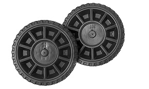 blow molded plastic wheels